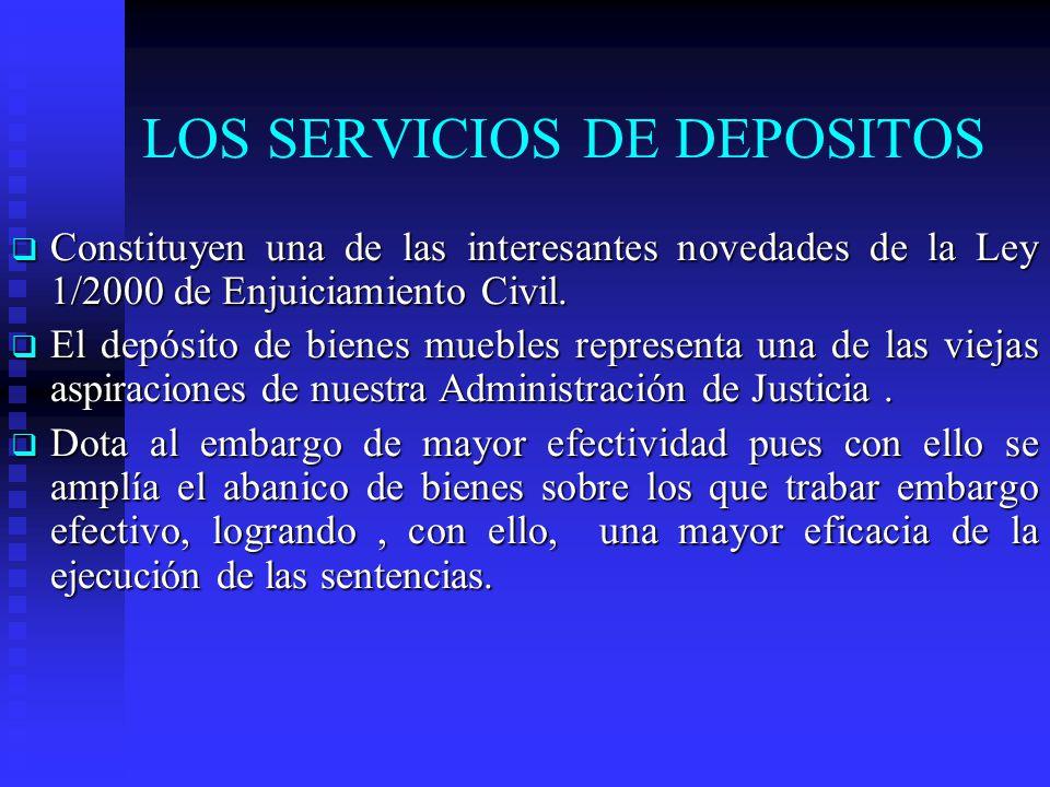 LOS SERVICIOS DE DEPOSITOS