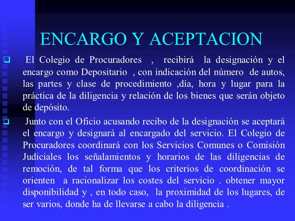 ENCARGO Y ACEPTACION