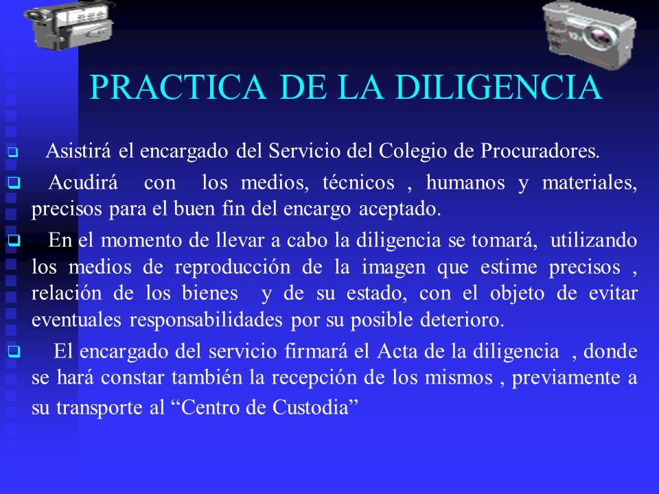PRACTICA DE LA DILIGENCIA
