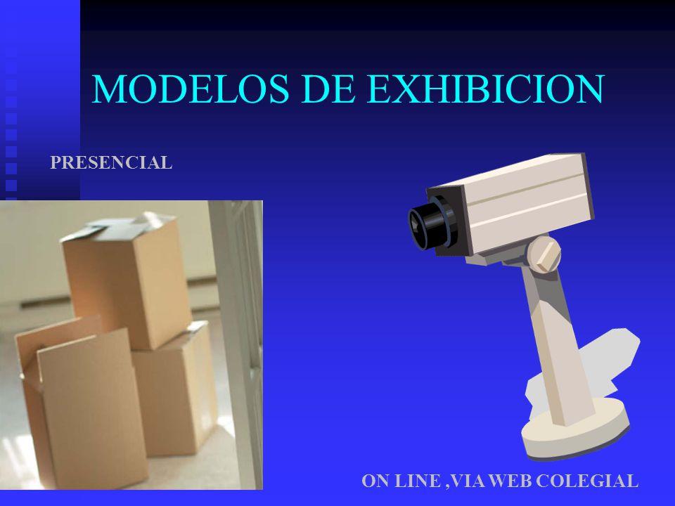 MODELOS DE EXHIBICION PRESENCIAL ON LINE ,VIA WEB COLEGIAL