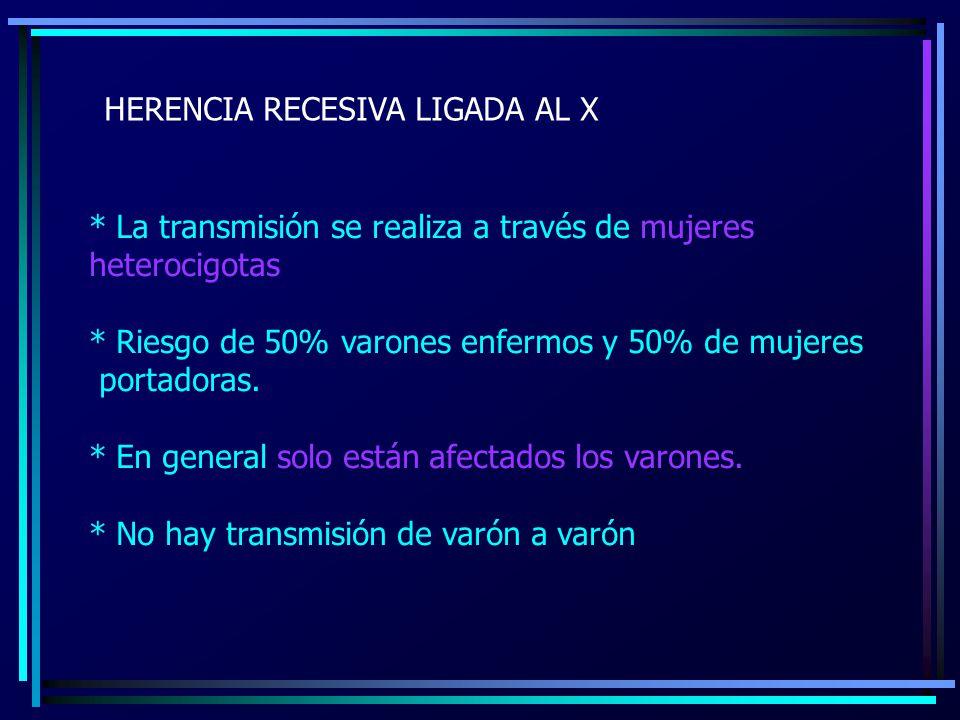 HERENCIA RECESIVA LIGADA AL X