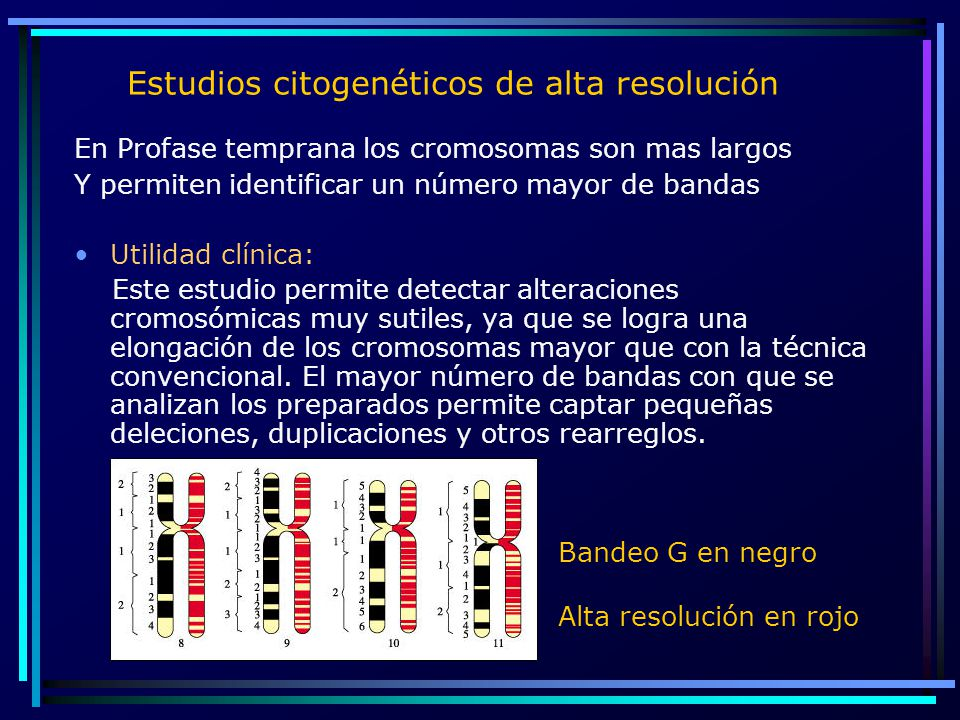Estudios citogenéticos de alta resolución