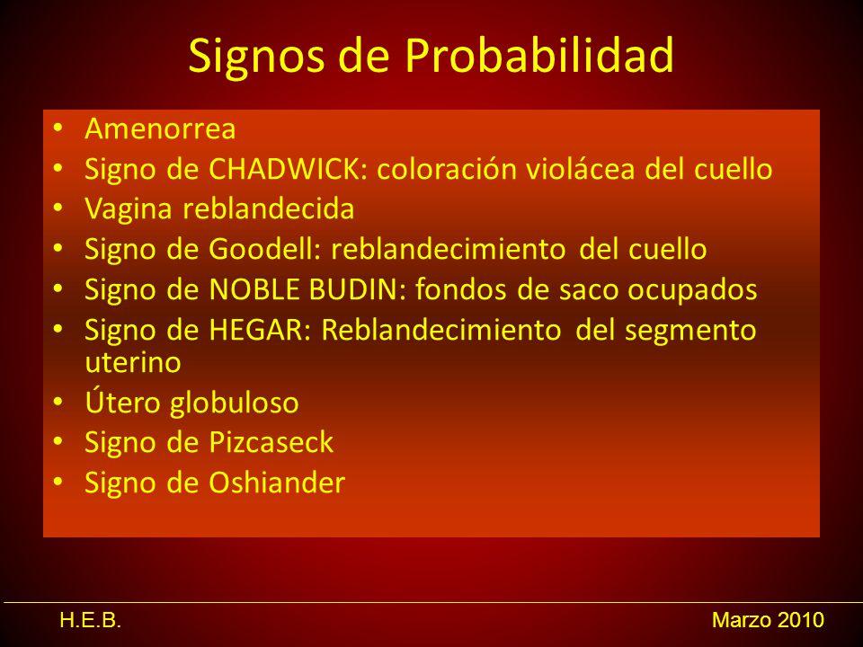 Signos de Probabilidad
