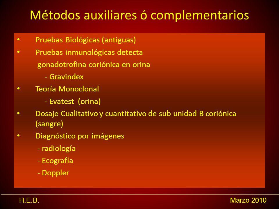 Métodos auxiliares ó complementarios