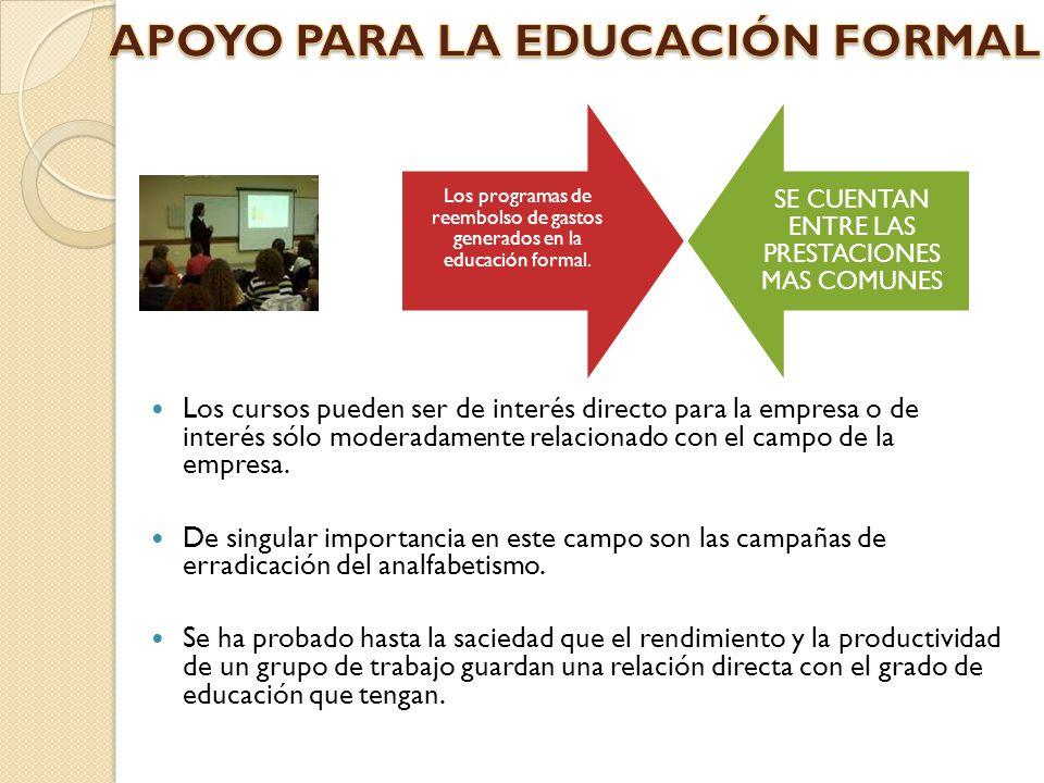 APOYO PARA LA EDUCACIÓN FORMAL