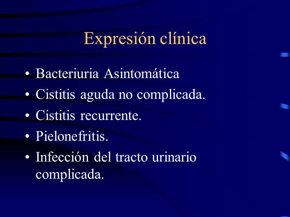 Expresión clínica Bacteriuria Asintomática