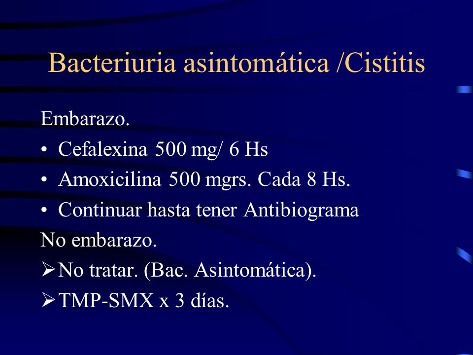 Bacteriuria asintomática /Cistitis