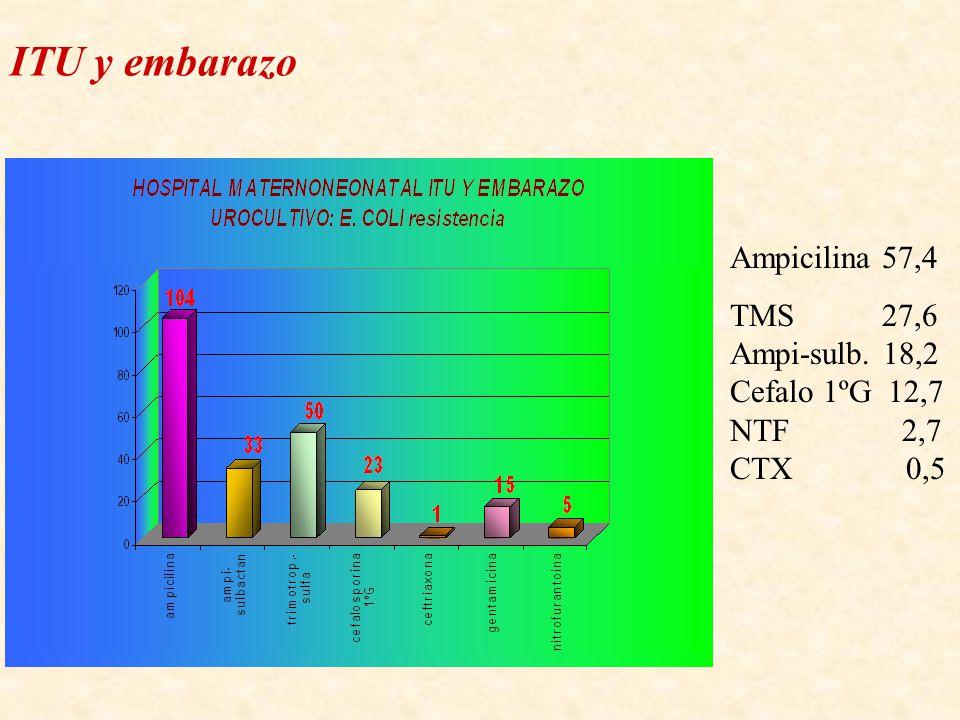 ITU y embarazo Ampicilina 57,4