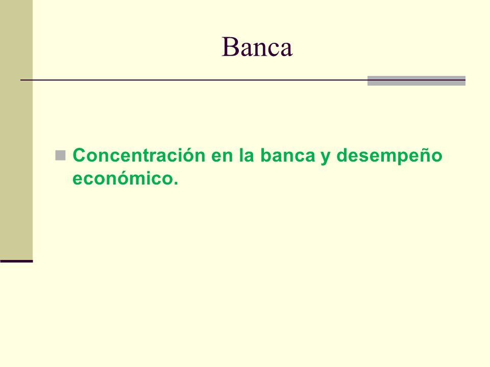 Banca Concentración en la banca y desempeño económico.
