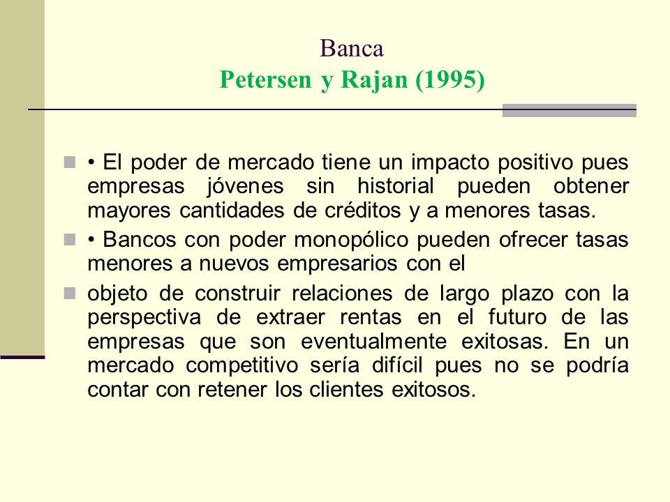 Banca Petersen y Rajan (1995)