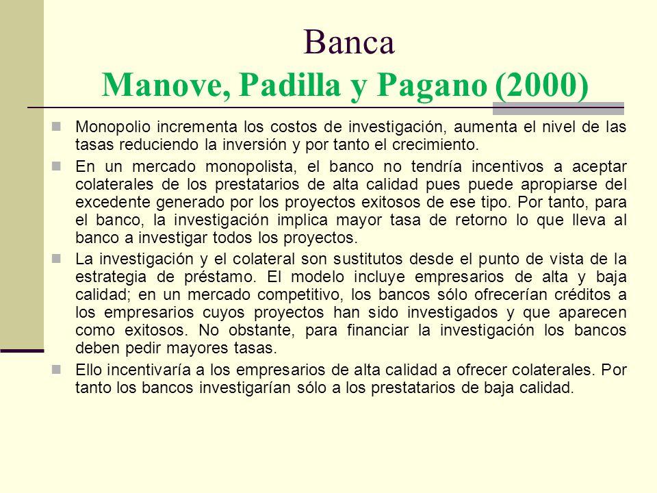 Banca Manove, Padilla y Pagano (2000)