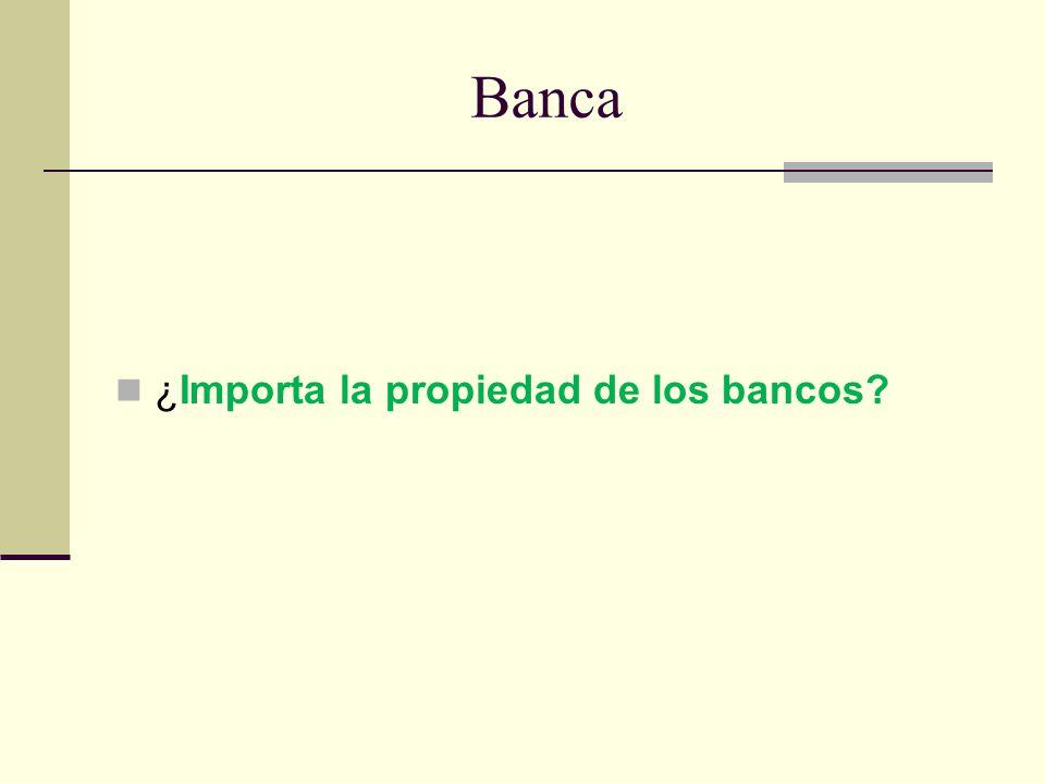 Banca ¿Importa la propiedad de los bancos