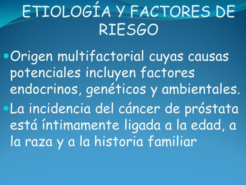 ETIOLOGÍA Y FACTORES DE RIESGO