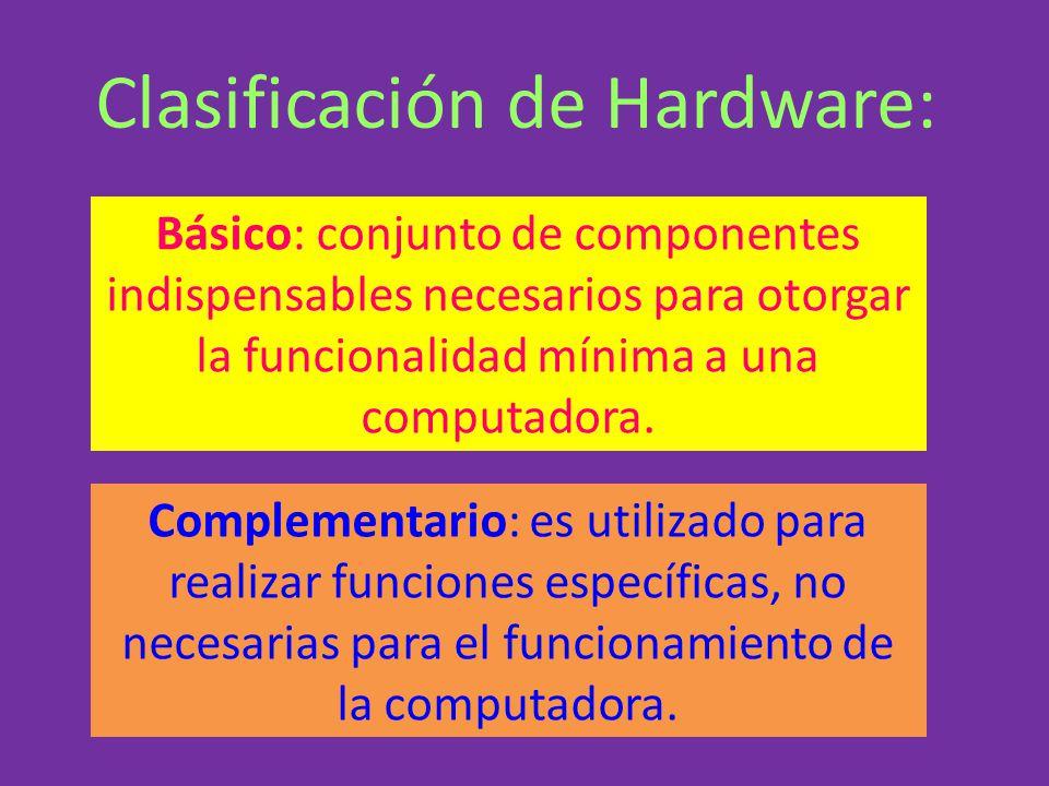 Clasificación de Hardware:
