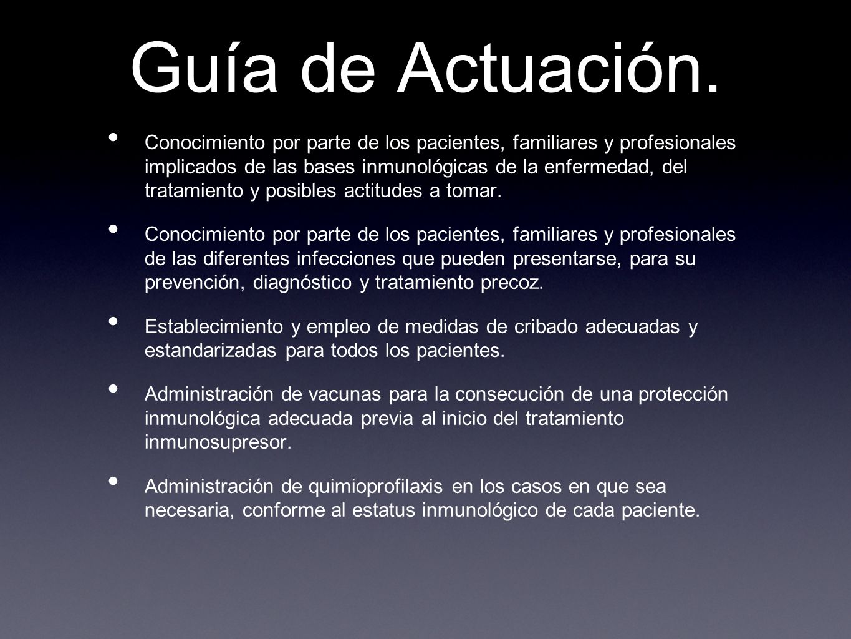 Guía de Actuación.