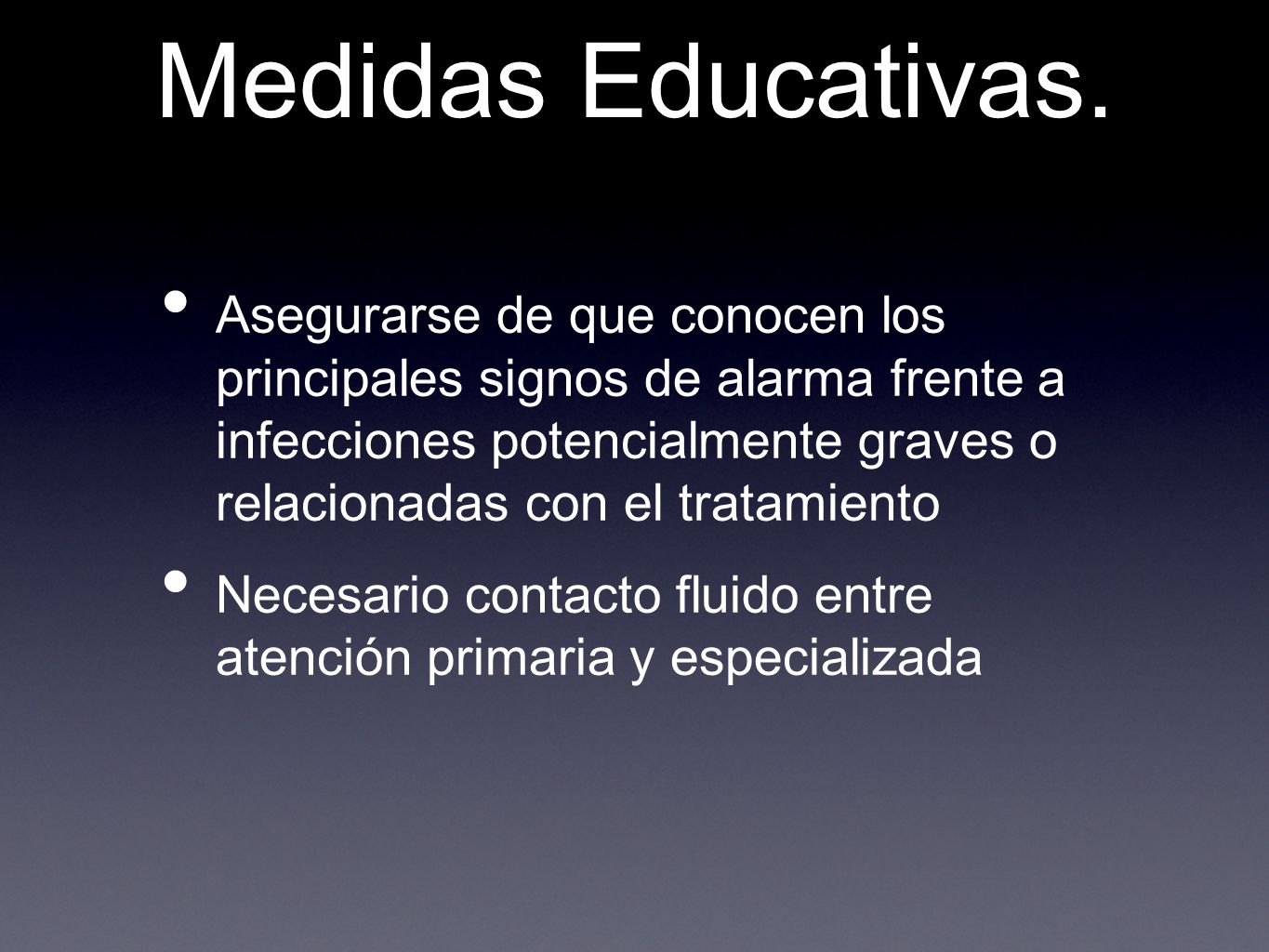 Medidas Educativas.