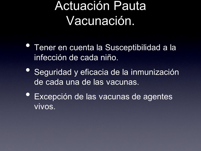 Actuación Pauta Vacunación.