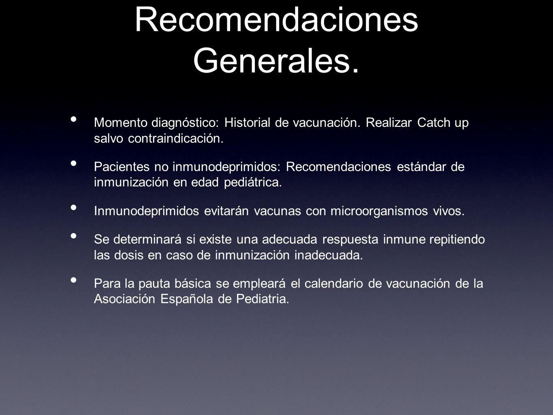 Recomendaciones Generales.