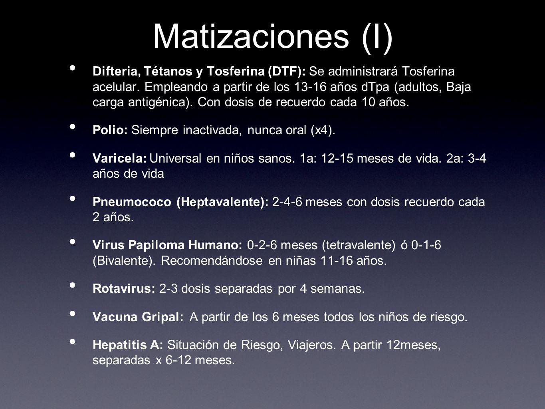 Matizaciones (I)