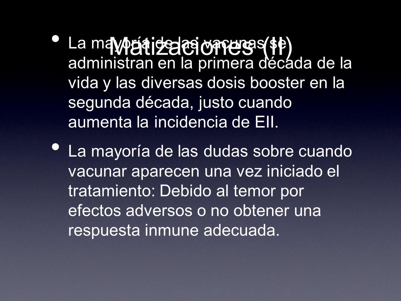 Matizaciones (II)
