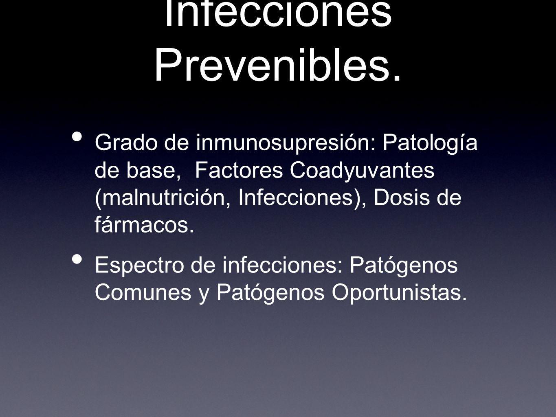Infecciones Prevenibles.
