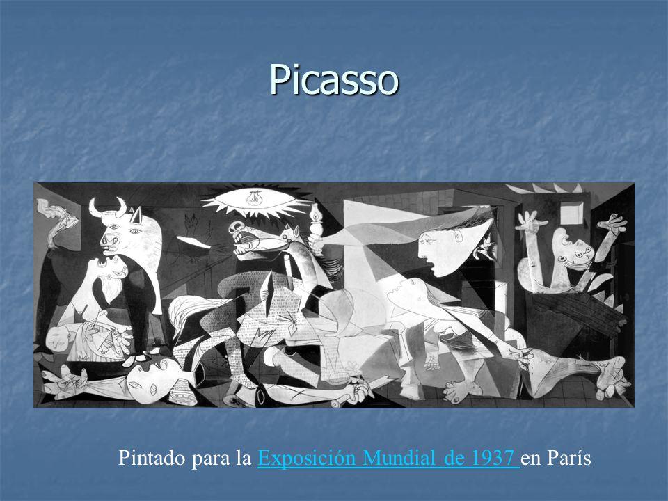 Picasso Pintado para la Exposición Mundial de 1937 en París
