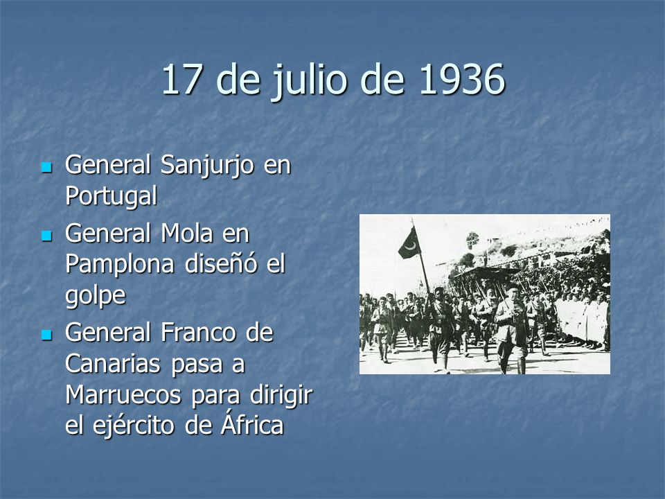 17 de julio de 1936 General Sanjurjo en Portugal