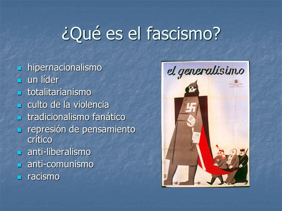 ¿Qué es el fascismo hipernacionalismo un líder totalitarianismo