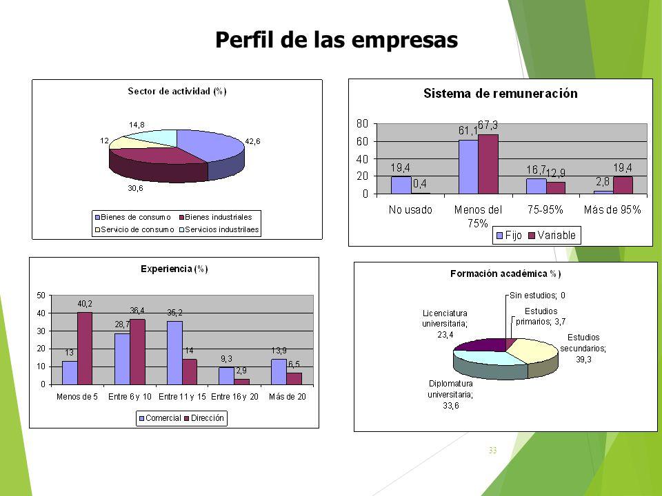Perfil de las empresas