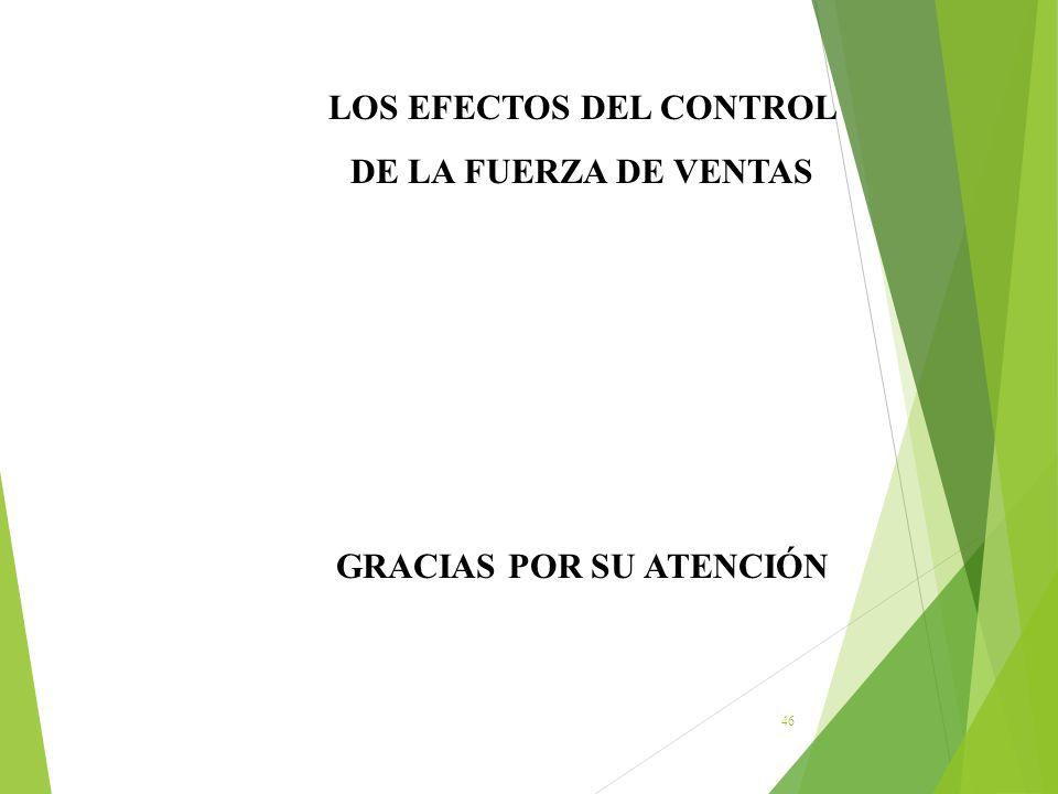 LOS EFECTOS DEL CONTROL GRACIAS POR SU ATENCIÓN