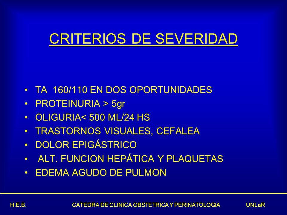 CRITERIOS DE SEVERIDAD