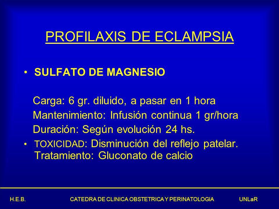 PROFILAXIS DE ECLAMPSIA