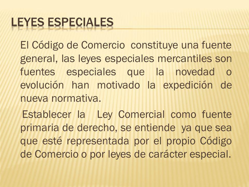 Leyes especiales