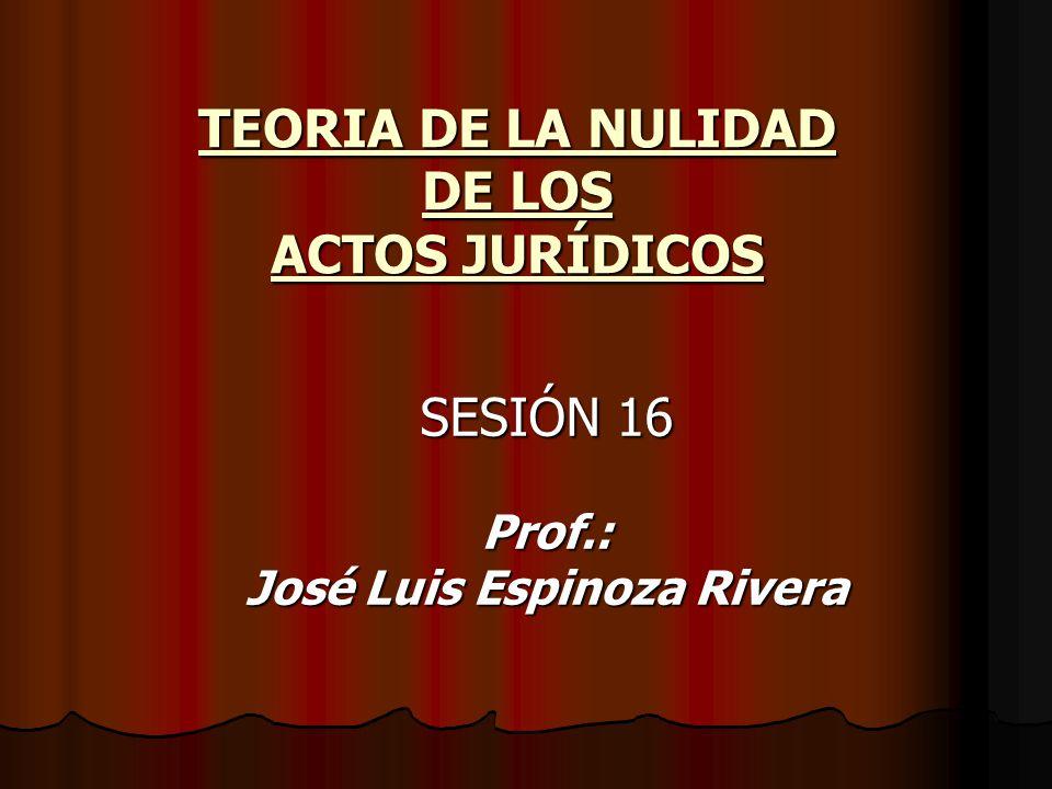 TEORIA DE LA NULIDAD DE LOS ACTOS JURÍDICOS