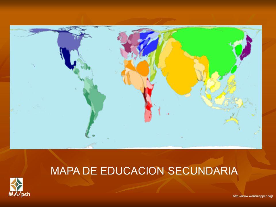 MAPA DE EDUCACION SECUNDARIA