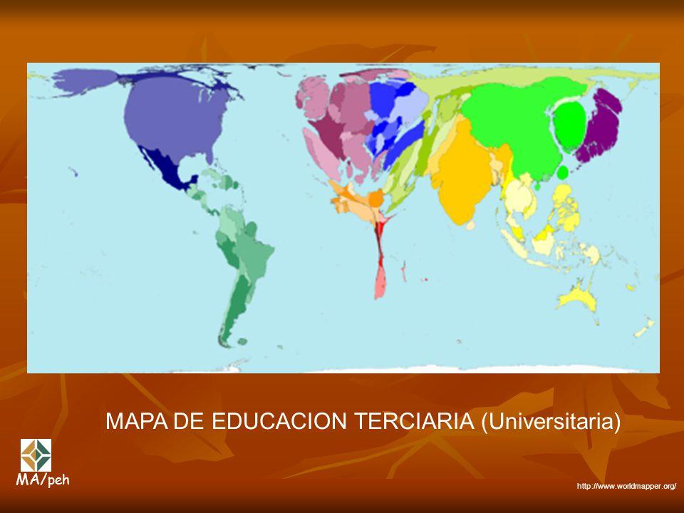 MAPA DE EDUCACION TERCIARIA (Universitaria)