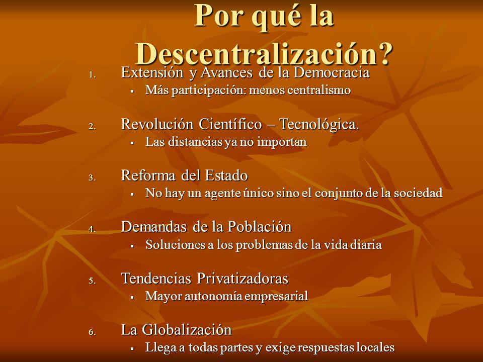 Por qué la Descentralización