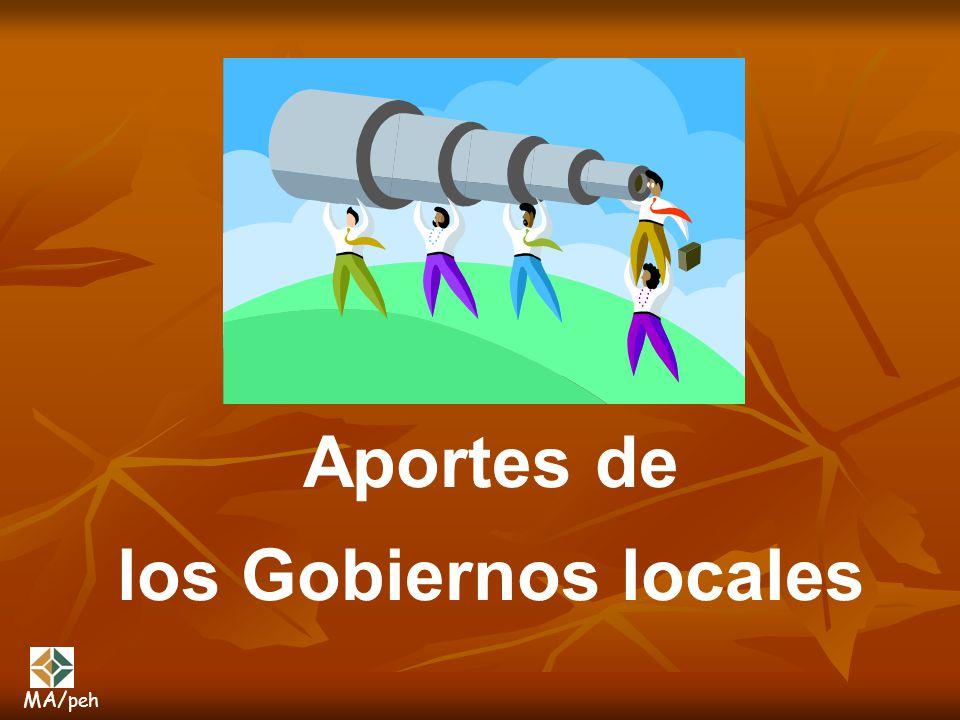 Aportes de los Gobiernos locales MA/peh