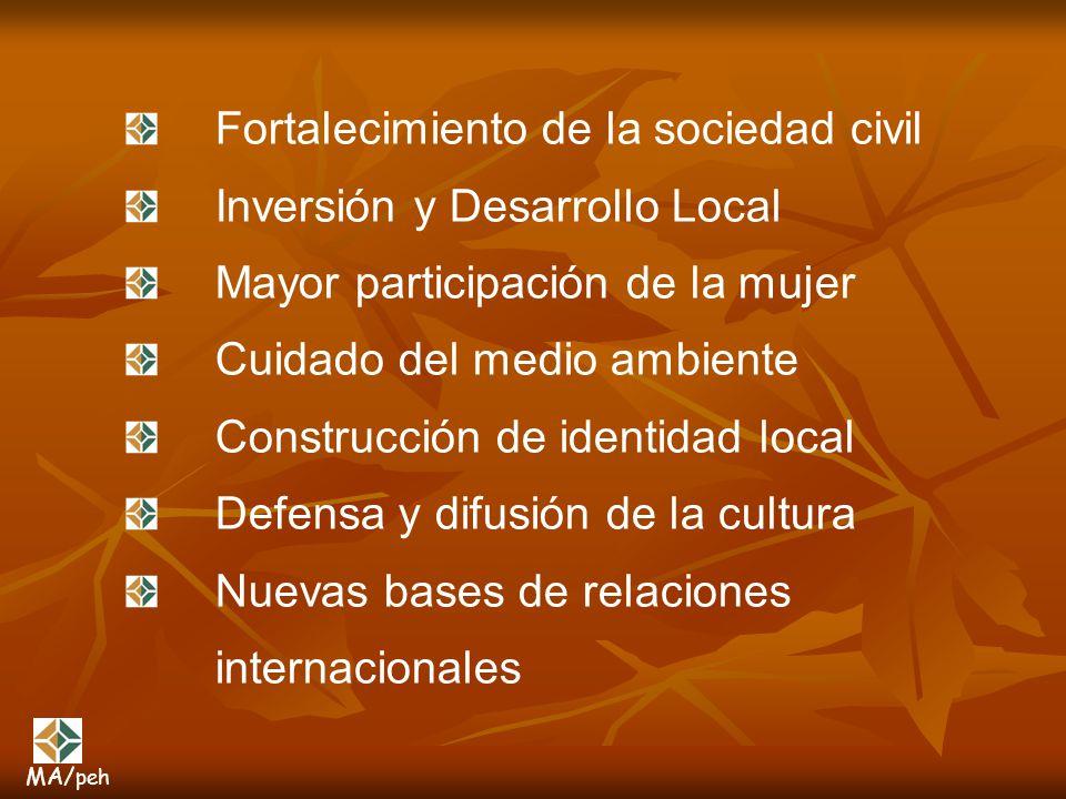 Fortalecimiento de la sociedad civil Inversión y Desarrollo Local