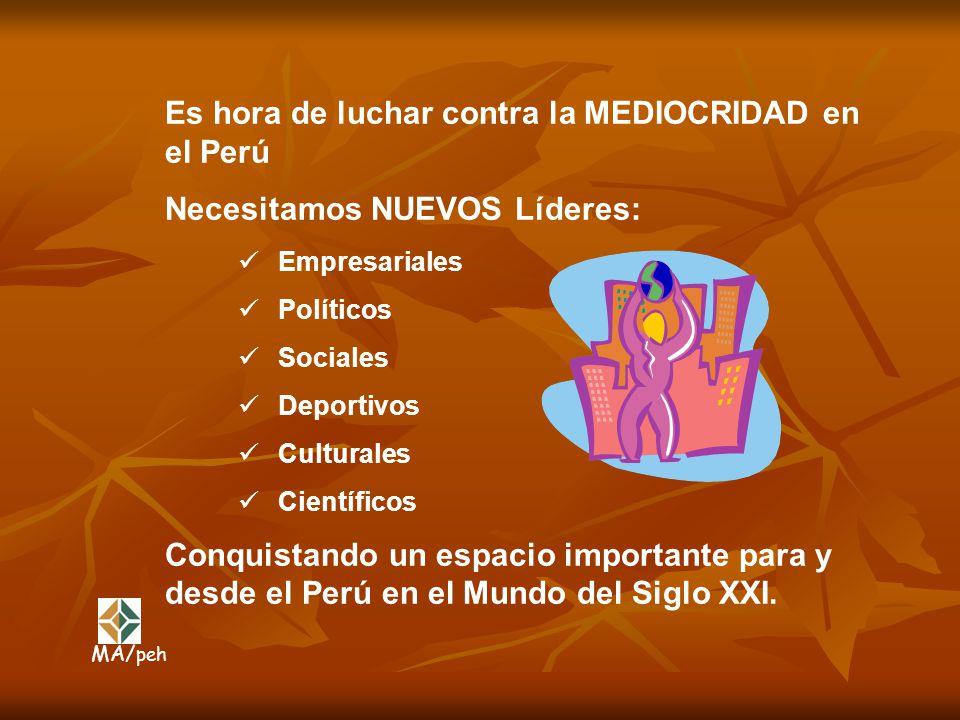 Es hora de luchar contra la MEDIOCRIDAD en el Perú
