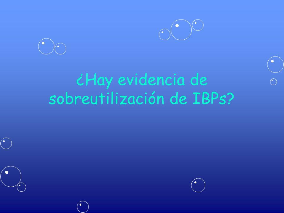 ¿Hay evidencia de sobreutilización de IBPs