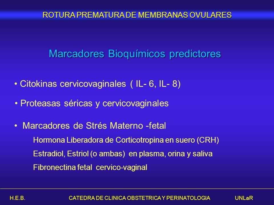 Marcadores Bioquímicos predictores