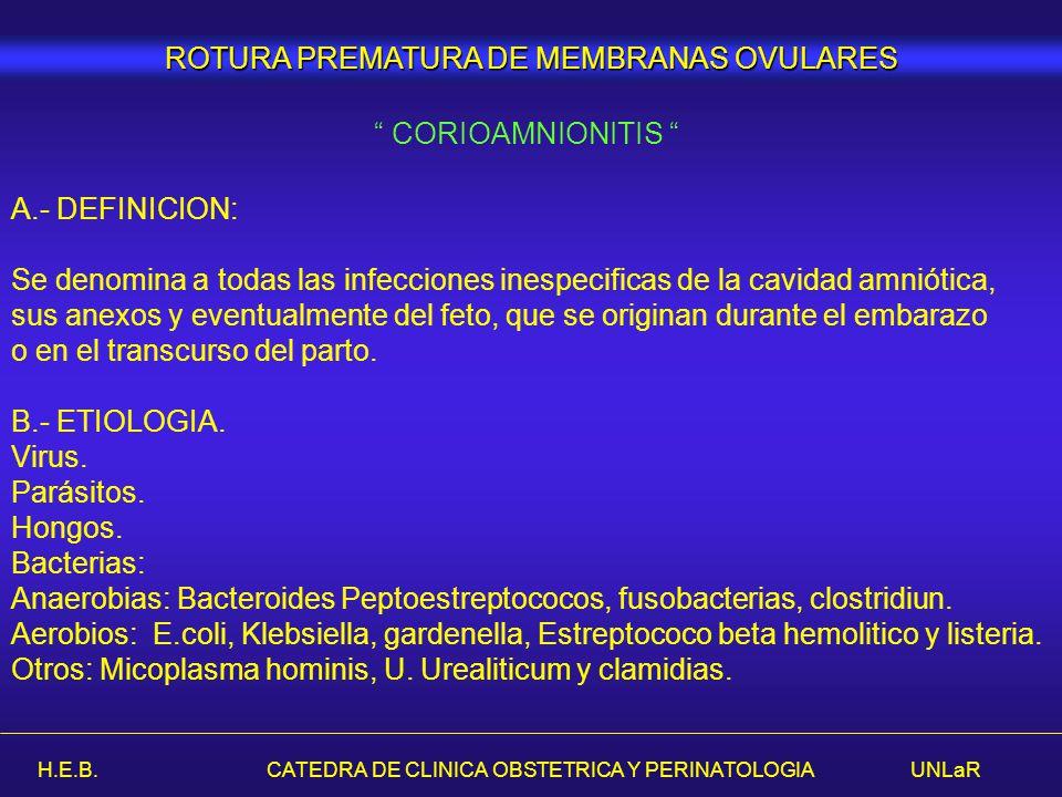 ROTURA PREMATURA DE MEMBRANAS OVULARES