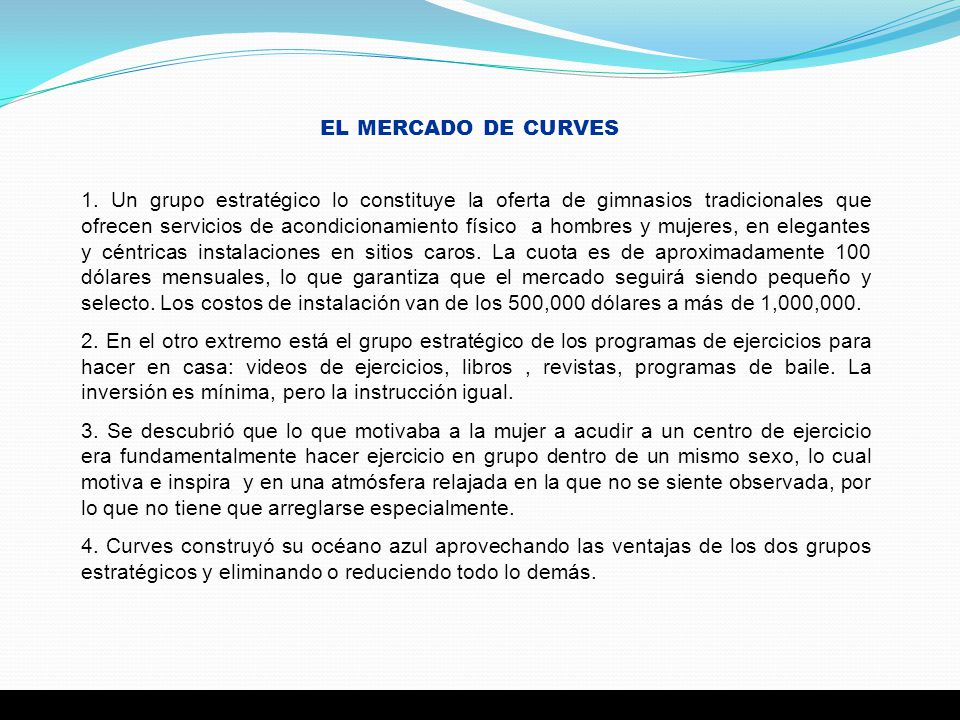 EL MERCADO DE CURVES