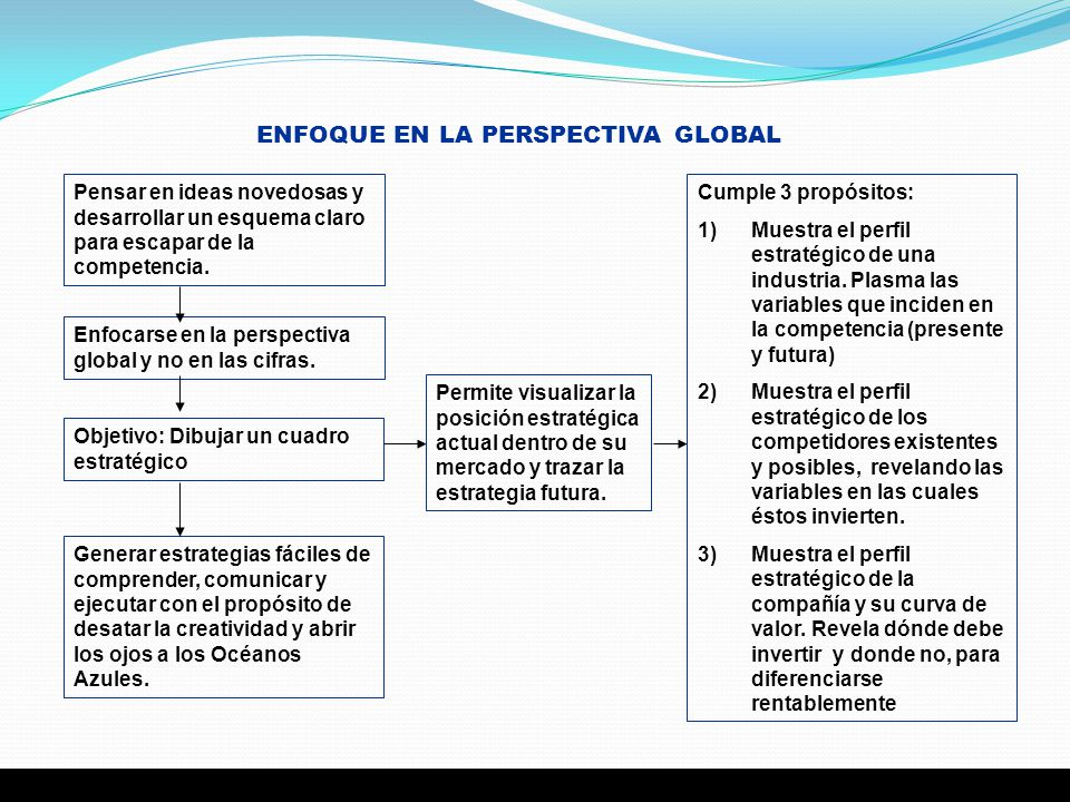 ENFOQUE EN LA PERSPECTIVA GLOBAL