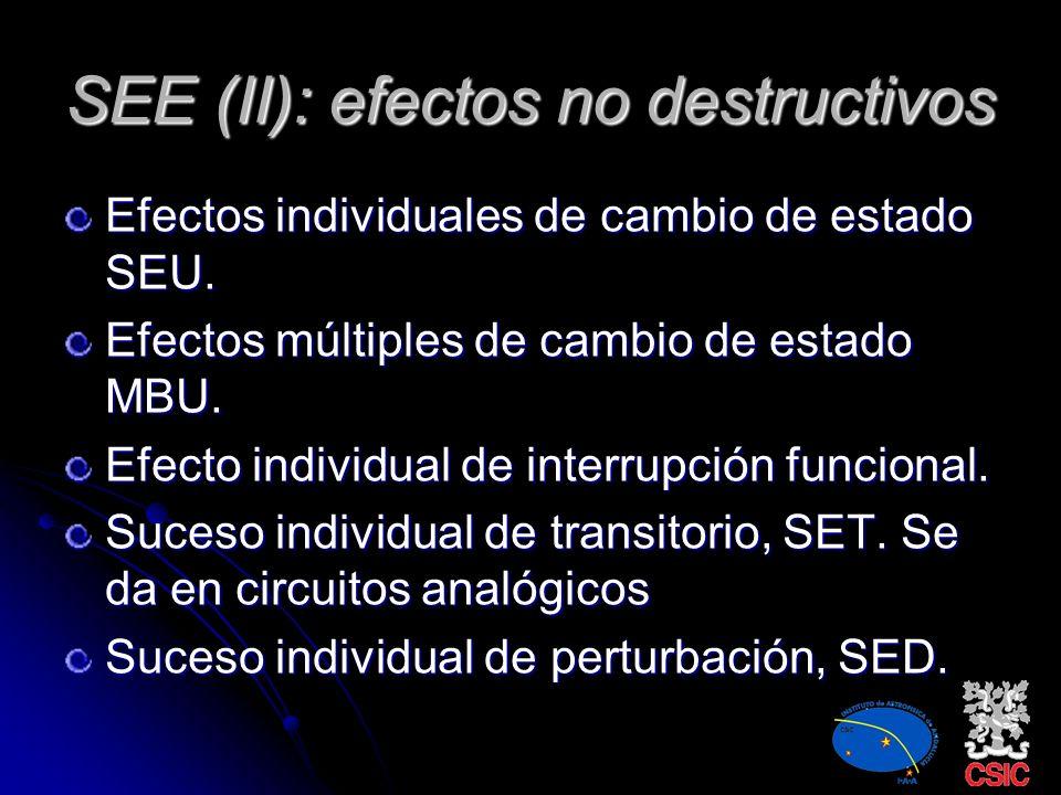SEE (II): efectos no destructivos