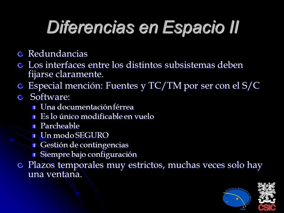 Diferencias en Espacio II
