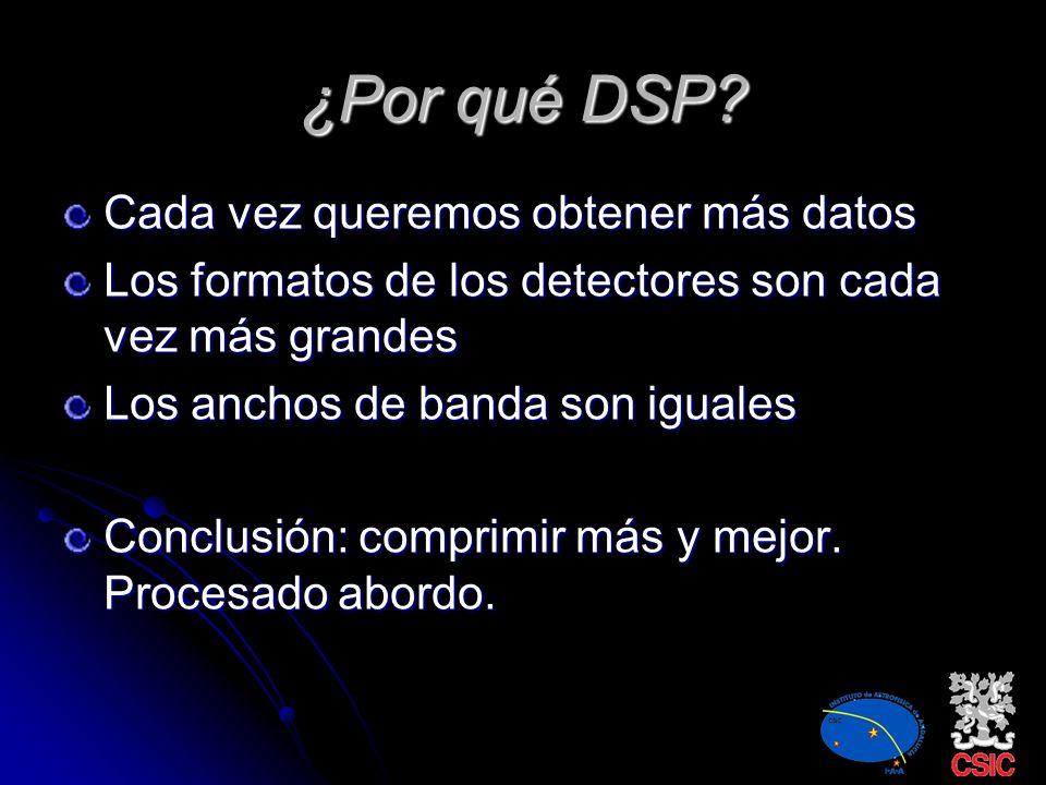 ¿Por qué DSP Cada vez queremos obtener más datos