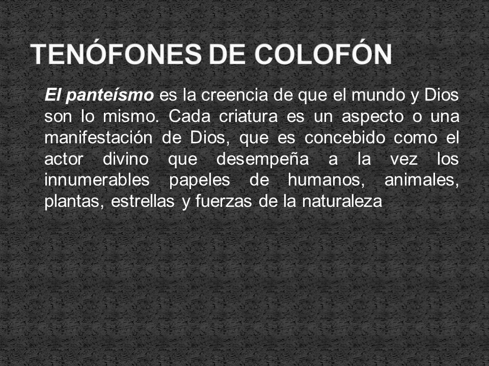 TENÓFONES DE COLOFÓN