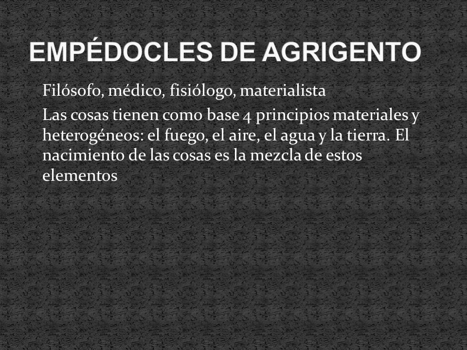 EMPÉDOCLES DE AGRIGENTO